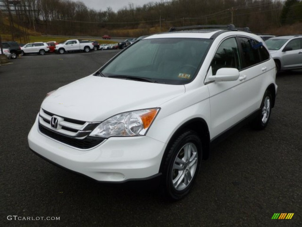 2010 CR-V EX-L AWD - Taffeta White / Gray photo #3
