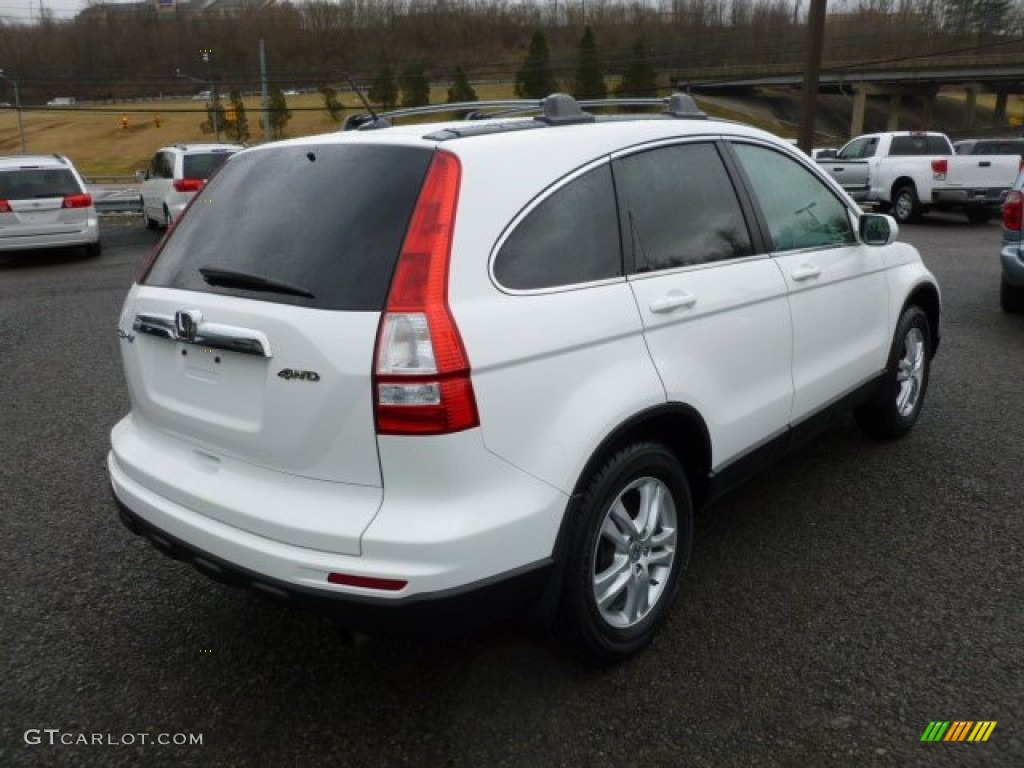2010 CR-V EX-L AWD - Taffeta White / Gray photo #6