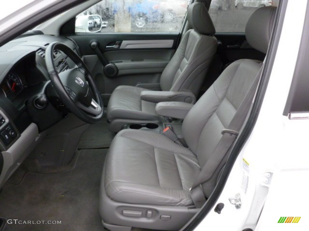 2010 CR-V EX-L AWD - Taffeta White / Gray photo #11