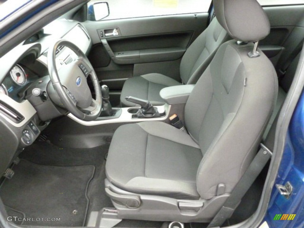 Charcoal Black Interior 2008 Ford Focus Ses Coupe Photo