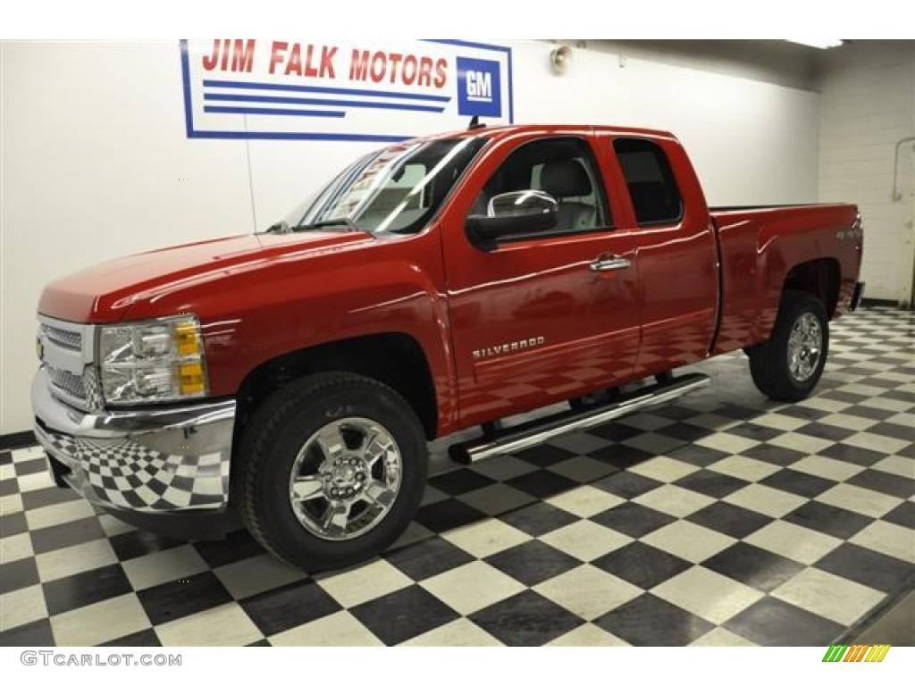2012 Silverado 1500 LT Extended Cab 4x4 - Victory Red / Light Titanium/Dark Titanium photo #1