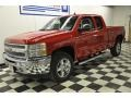 2012 Victory Red Chevrolet Silverado 1500 LT Extended Cab 4x4  photo #21