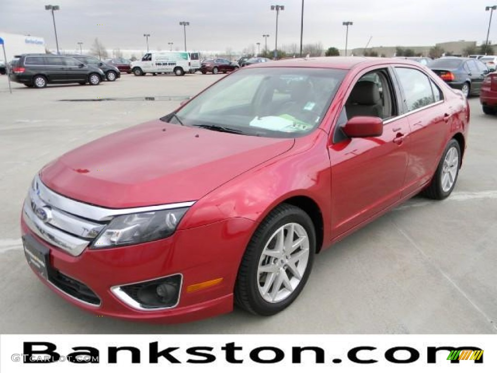 2011 Fusion SEL V6 - Red Candy Metallic / Medium Light Stone photo #1