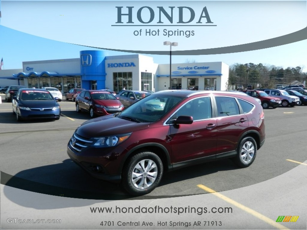 2012 CR-V EX-L - Basque Red Pearl II / Gray photo #1
