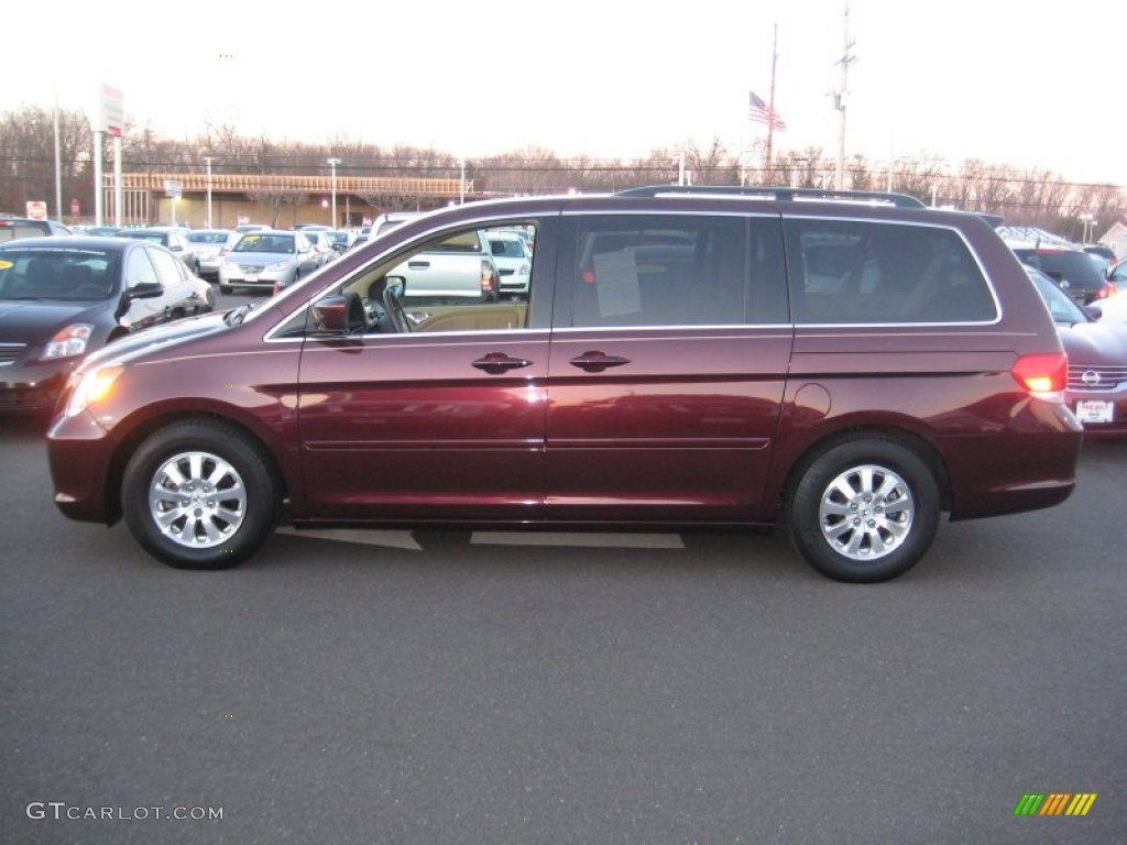 Dark Cherry Pearl 2010 Honda Odyssey Ex L Exterior Photo