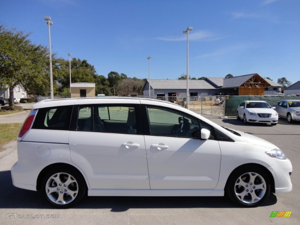 2010 mazda5 sport crystal white pearl mica sand photo 10