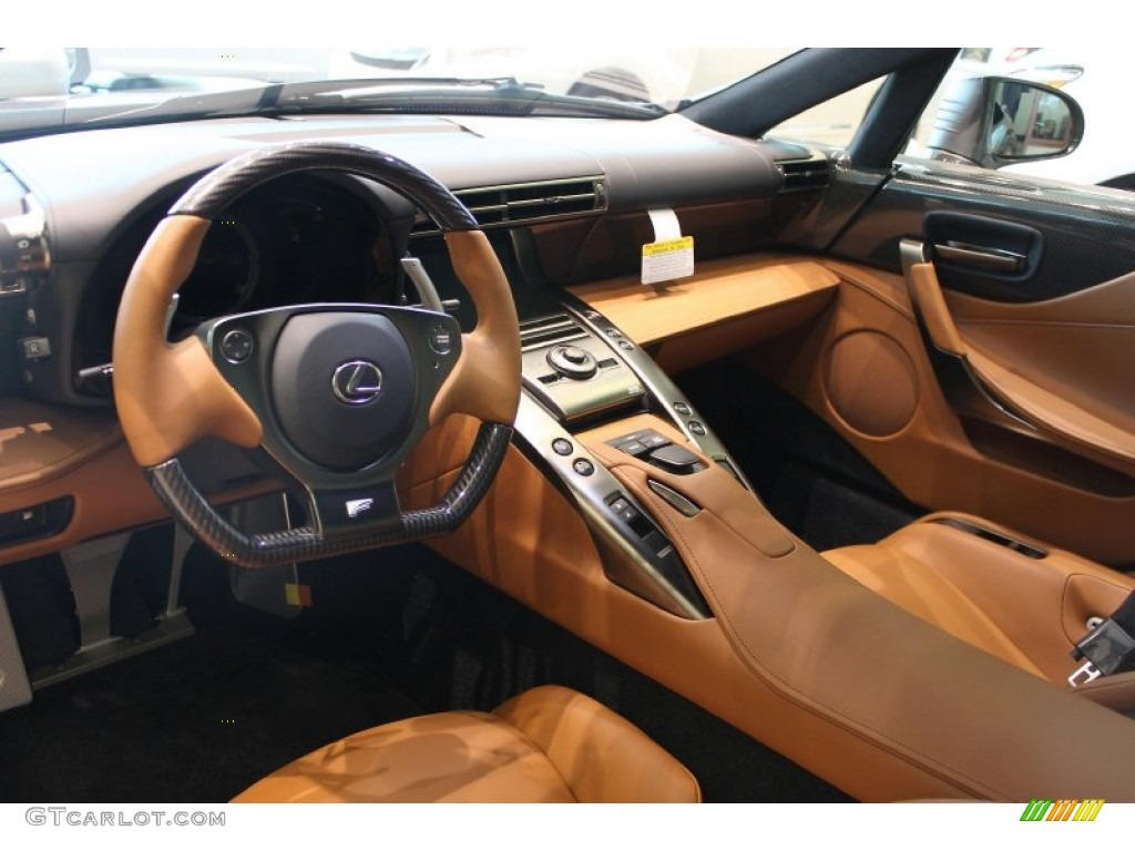 Camel Yellow Interior 2012 Lexus LFA Coupe Photo #60362919