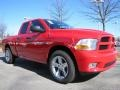 2012 Flame Red Dodge Ram 1500 Express Quad Cab  photo #4