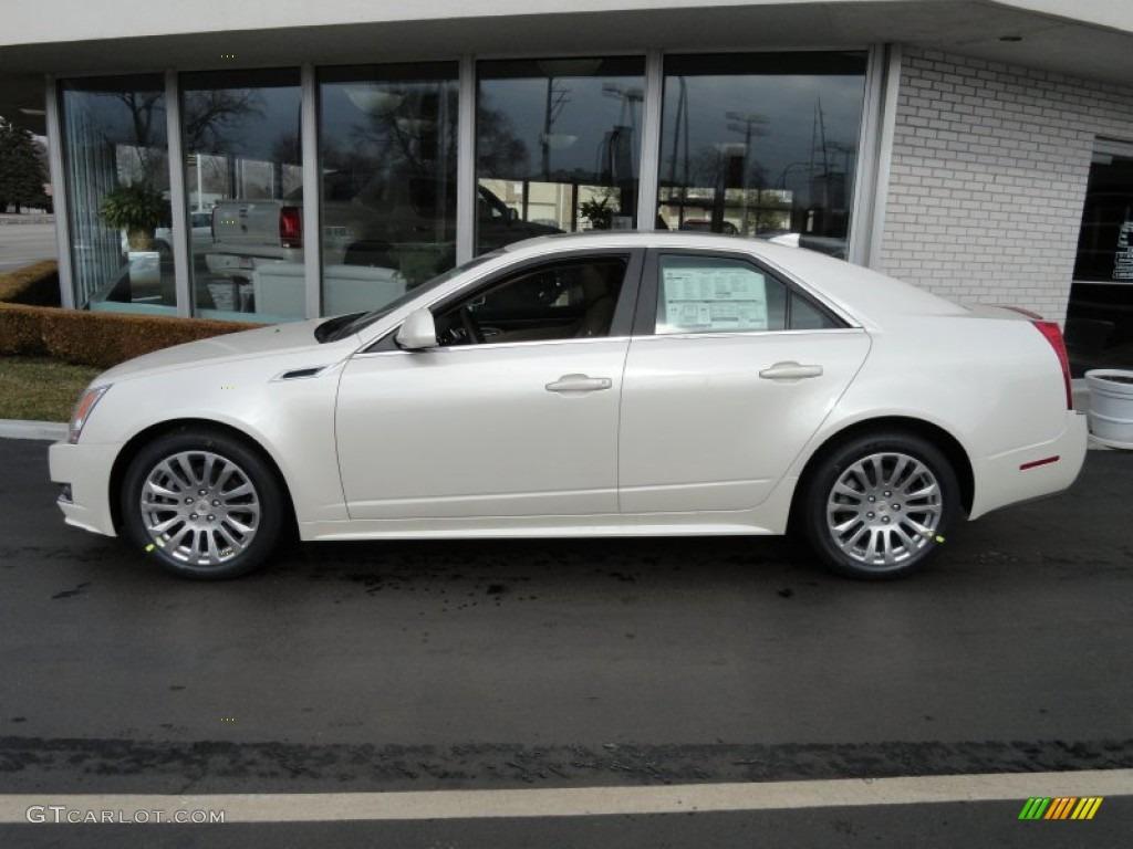 2012 White Diamond Tricoat Cadillac Cts 4 3 6 Awd Sedan