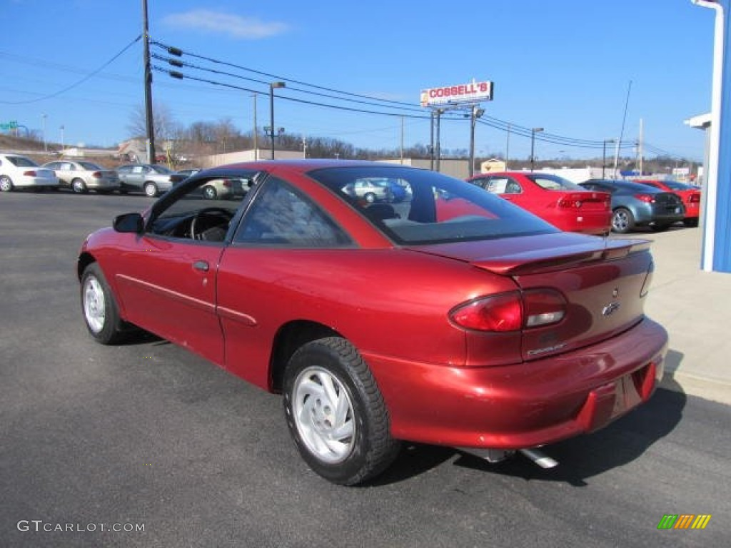 1999 Cavalier Coupe - Cayenne Red Metallic / Graphite photo #7
