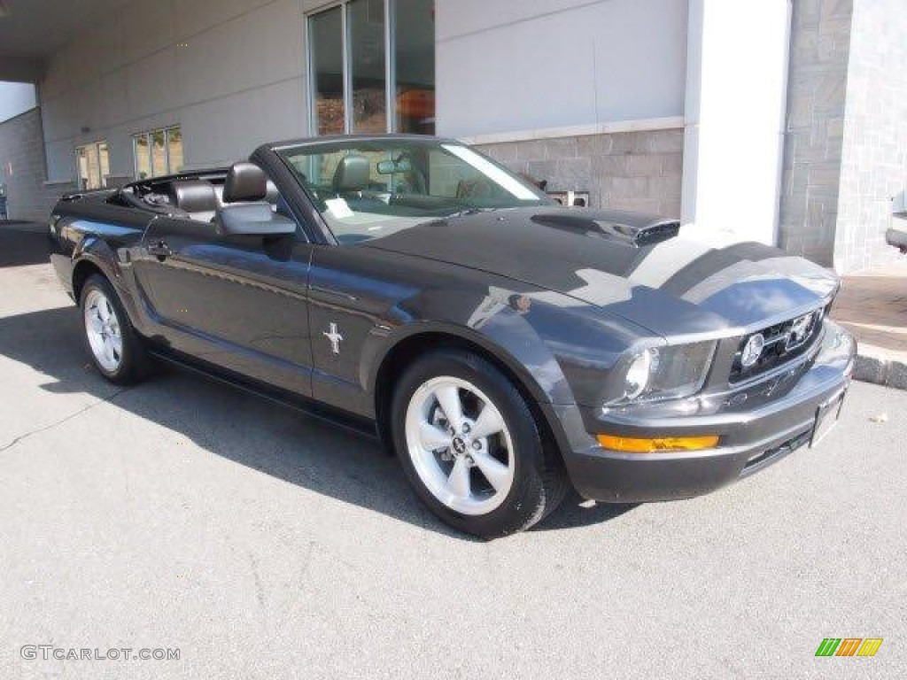 2007 Mustang V6 Premium Convertible - Alloy Metallic / Dark Charcoal photo #1
