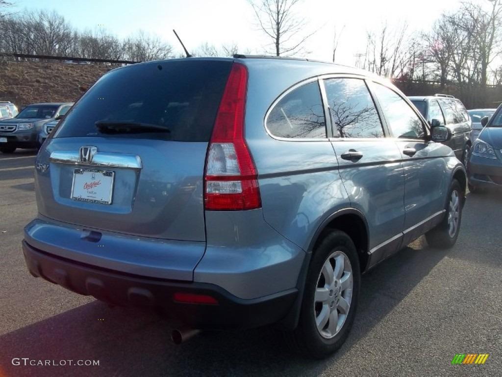 2009 CR-V EX 4WD - Glacier Blue Metallic / Gray photo #6