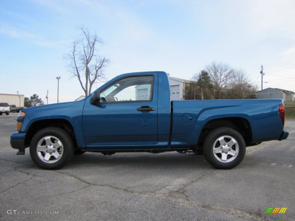 aqua blue metallic 2011 chevrolet colorado lt regular cab. Black Bedroom Furniture Sets. Home Design Ideas