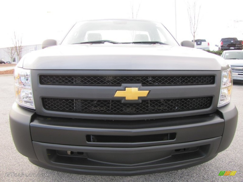 2012 Silverado 1500 Work Truck Regular Cab - Graystone Metallic / Dark Titanium photo #2