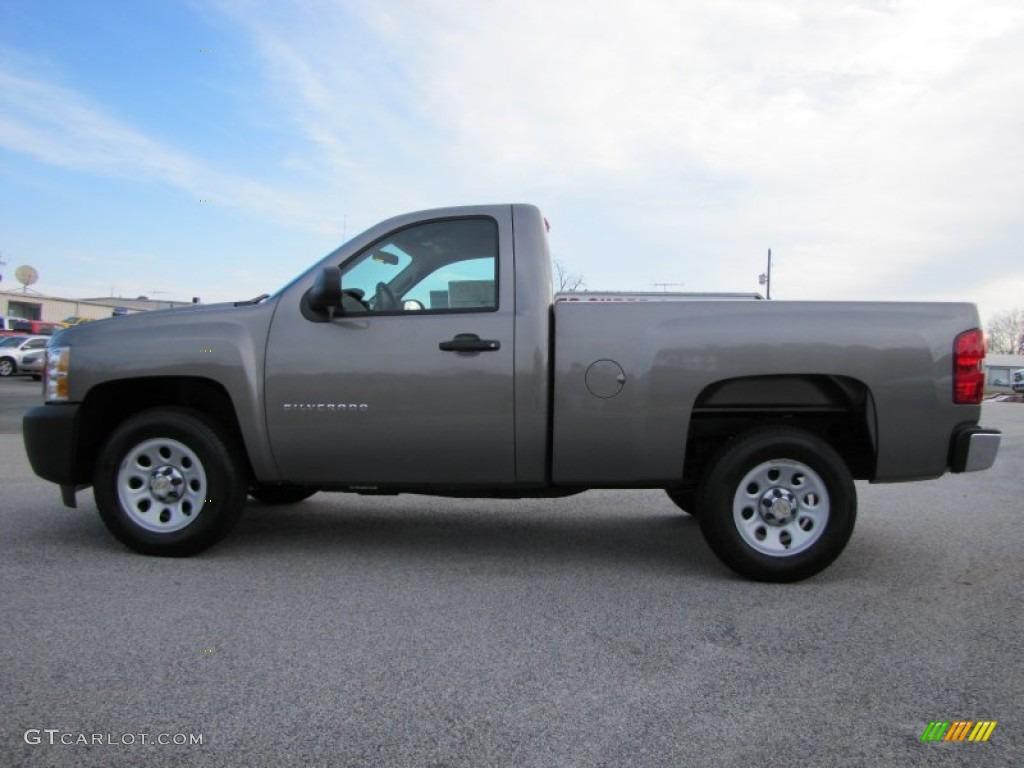 2012 Silverado 1500 Work Truck Regular Cab - Graystone Metallic / Dark Titanium photo #4