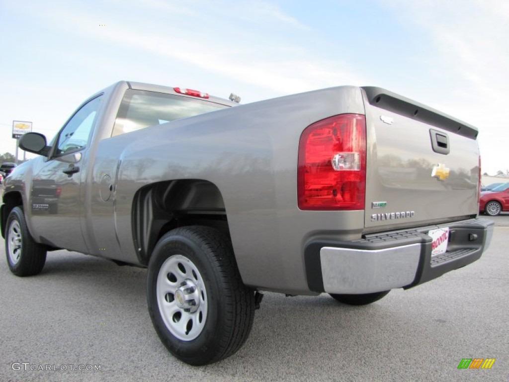 2012 Silverado 1500 Work Truck Regular Cab - Graystone Metallic / Dark Titanium photo #5