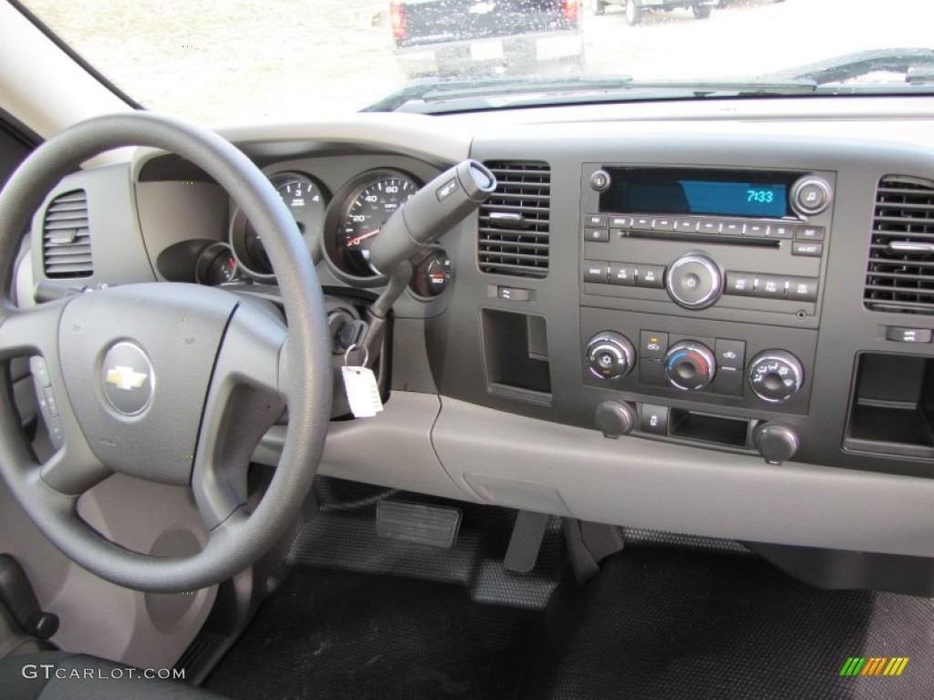2012 Silverado 1500 Work Truck Regular Cab - Graystone Metallic / Dark Titanium photo #14