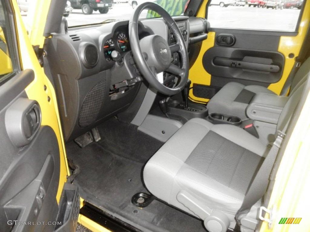 Dark Slate Gray Med Slate Gray Interior 2008 Jeep Wrangler Unlimited X 4x4 Photo 60400290