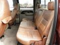 2007 Ford F250 Super Duty Castano Brown Leather Interior Rear Seat Photo