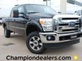 2012 Tuxedo Black Metallic Ford F250 Super Duty Lariat Crew Cab 4x4  photo #1