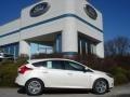 2012 White Platinum Tricoat Metallic Ford Focus Titanium 5-Door  photo #1