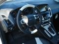 2012 White Platinum Tricoat Metallic Ford Focus Titanium 5-Door  photo #10