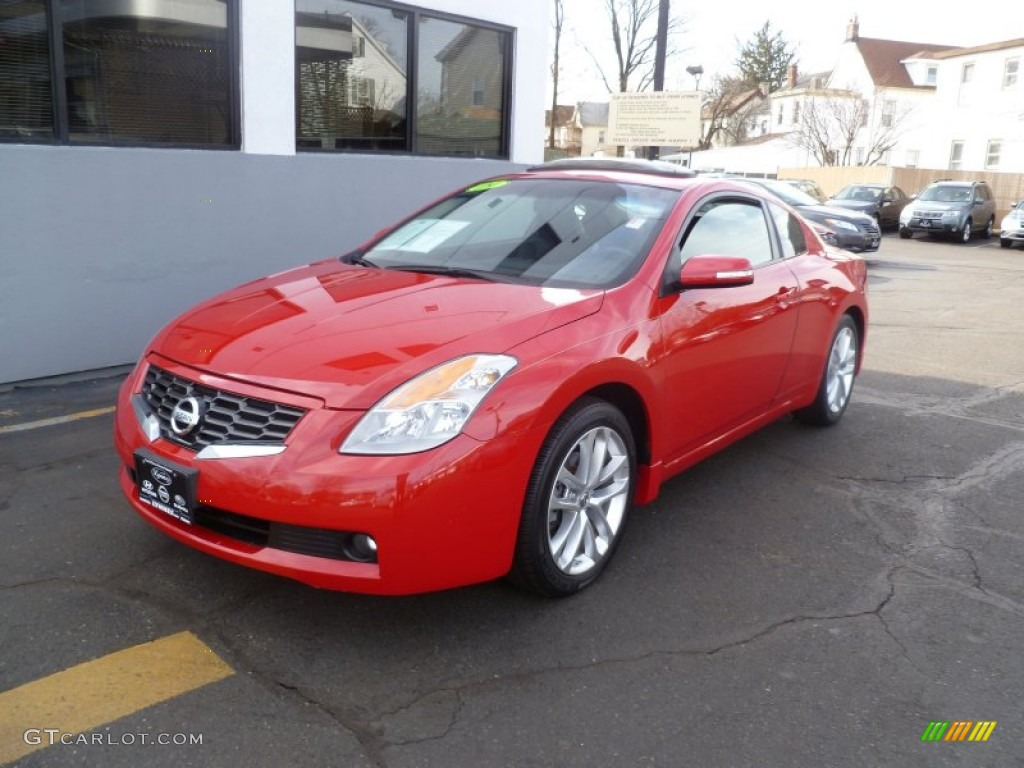 2009 code red metallic nissan altima 3 5 se coupe 60379277 car color galleries. Black Bedroom Furniture Sets. Home Design Ideas