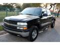 2000 Onyx Black Chevrolet Silverado 1500 LS Extended Cab 4x4  photo #1