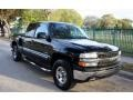 2000 Onyx Black Chevrolet Silverado 1500 LS Extended Cab 4x4  photo #15