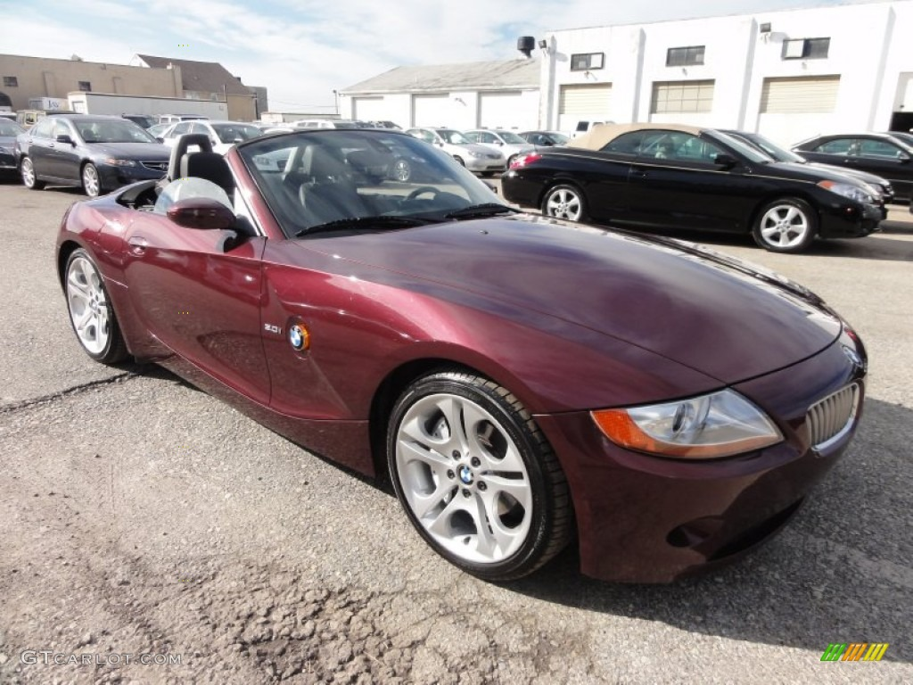 Merlot Red Metallic 2004 Bmw Z4 3 0i Roadster Exterior Photo 60423206 Gtcarlot Com