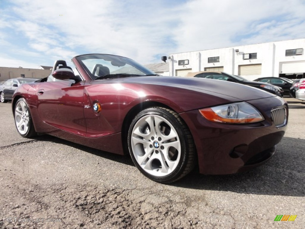 Merlot Red Metallic 2004 BMW Z4 3.0i Roadster Exterior ...