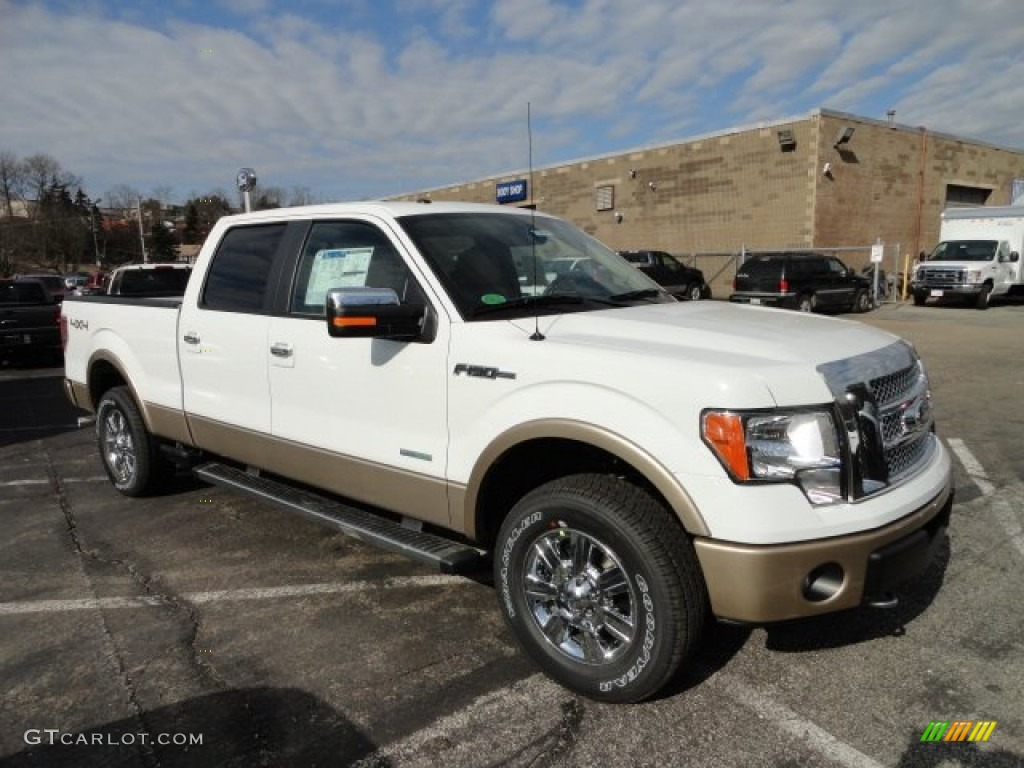 2012 oxford white ford f150 lariat supercrew 4x4 60378815 car color galleries. Black Bedroom Furniture Sets. Home Design Ideas