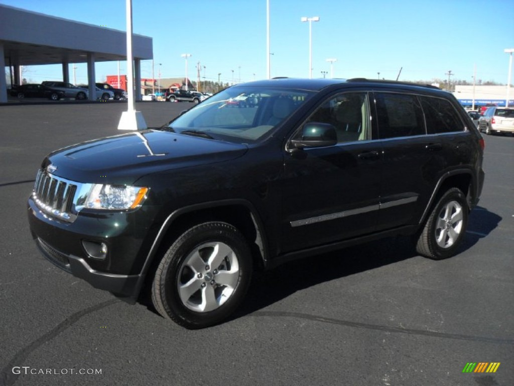 2012 black forest green pearl jeep grand cherokee laredo x package