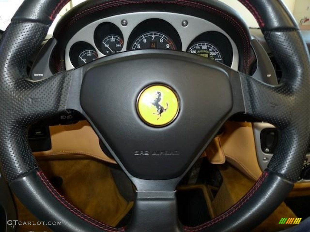 2001 Ferrari 360 Spider F1 Beige Steering Wheel Photo