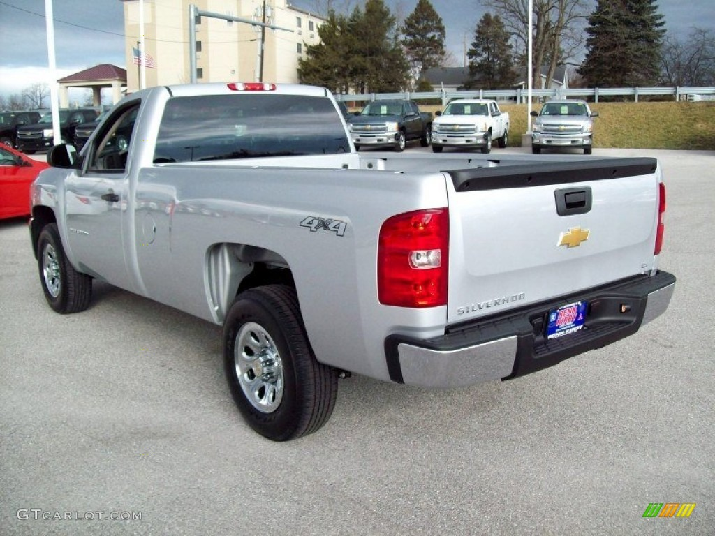 2012 Silverado 1500 Work Truck Regular Cab 4x4 - Silver Ice Metallic / Dark Titanium photo #2