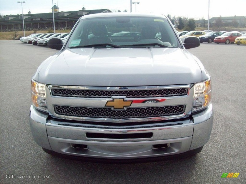 2012 Silverado 1500 Work Truck Regular Cab 4x4 - Silver Ice Metallic / Dark Titanium photo #14