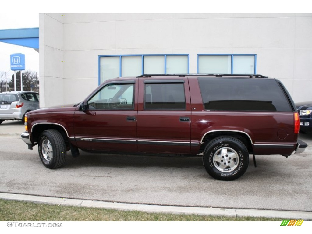 Dark Garnet Red Metallic 1995 Chevrolet Suburban K1500 Ls 4x4 Exterior Photo 60478472