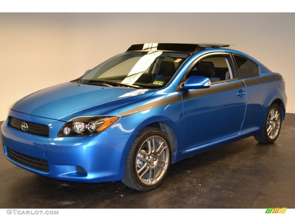 2010 speedway blue metallic scion tc release series 6 0. Black Bedroom Furniture Sets. Home Design Ideas