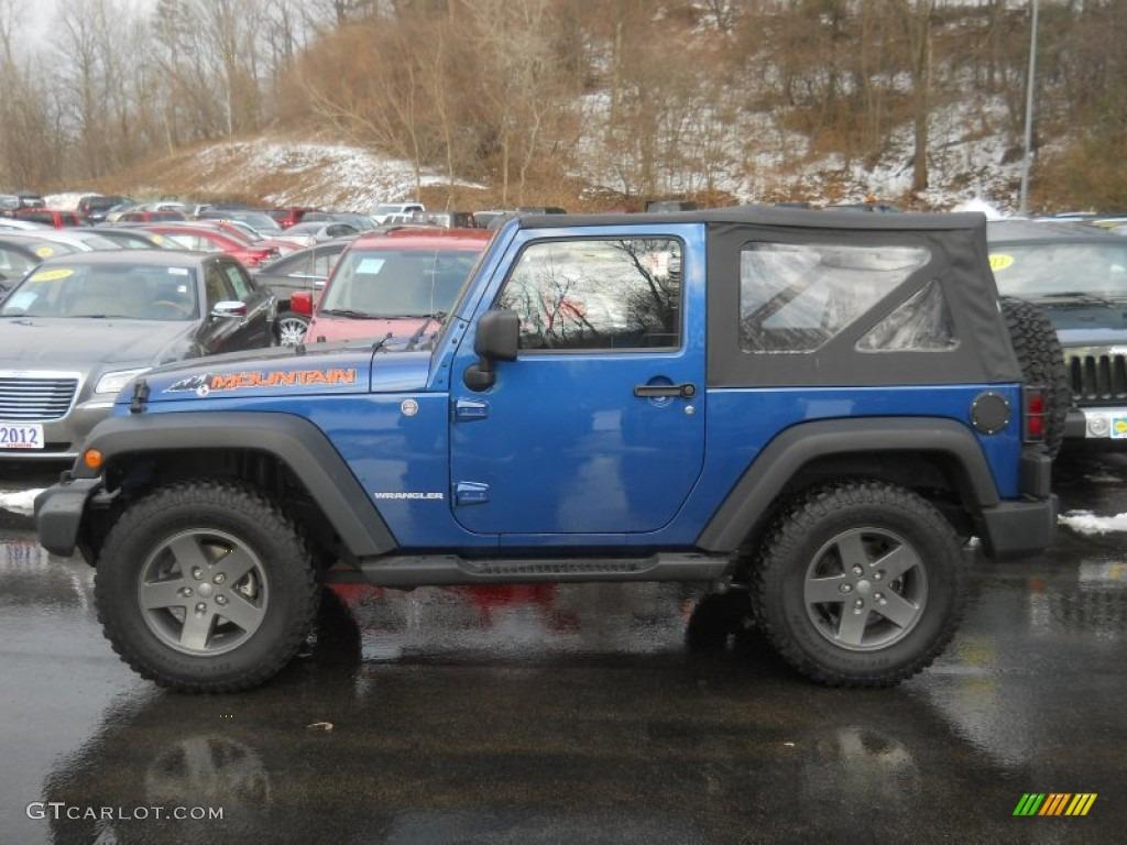 2010 Deep Water Blue Pearl Jeep Wrangler Sport Mountain Edition 4x4 In Dark Slate Gray