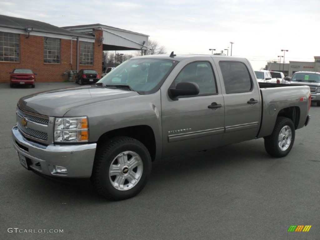 2012 Silverado 1500 LT Crew Cab 4x4 - Graystone Metallic / Ebony photo #1