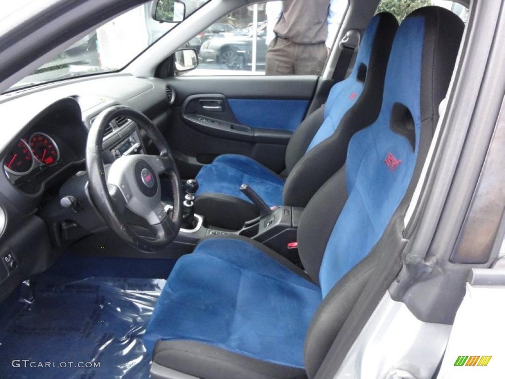 Blue Ecsaine Black Interior 2004 Subaru Impreza Wrx Sti Photo