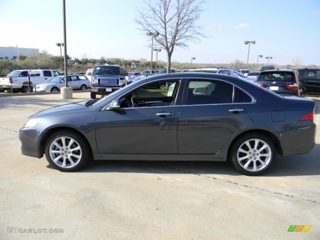Carbon Gray Pearl 2007 Acura TSX Sedan Exterior Photo #60496610 | GTCarLot.com