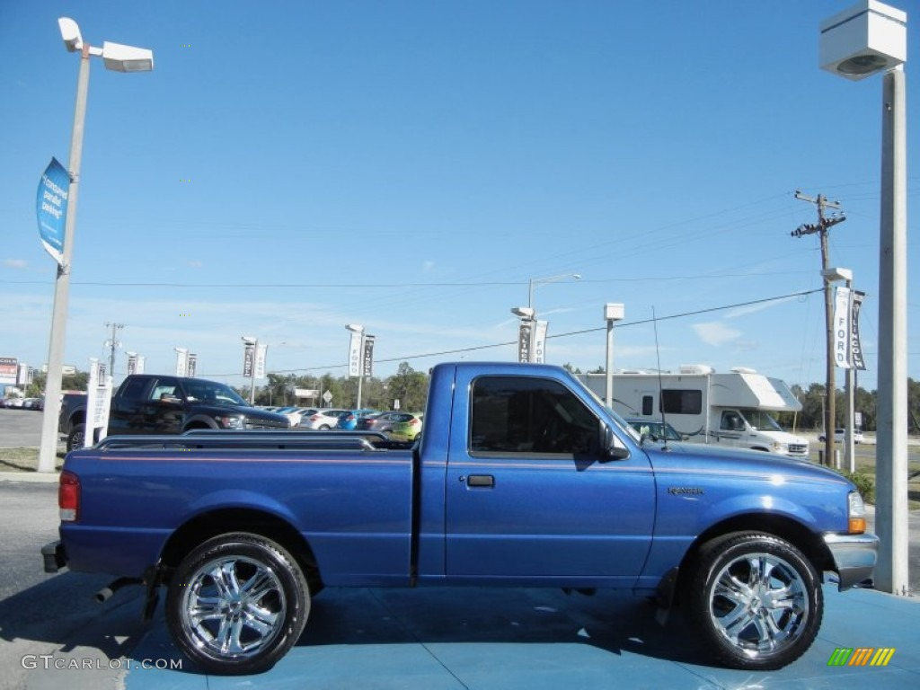 Bright atlantic blue metallic 2000 ford ranger xlt regular cab exterior photo 60500597