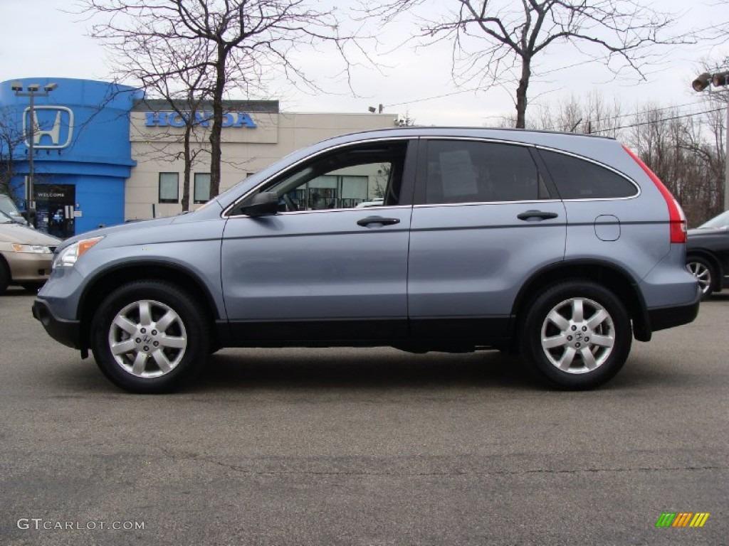 2009 CR-V EX 4WD - Glacier Blue Metallic / Gray photo #1