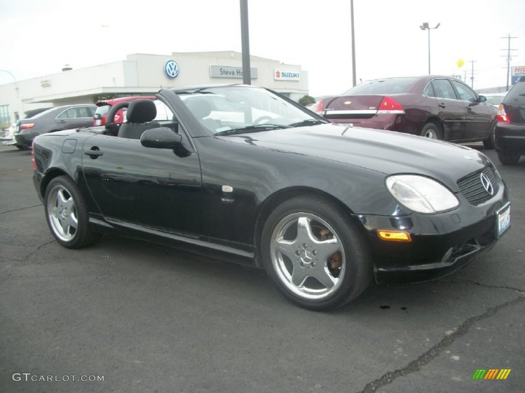 1999 black mercedes benz slk 230 kompressor roadster. Black Bedroom Furniture Sets. Home Design Ideas