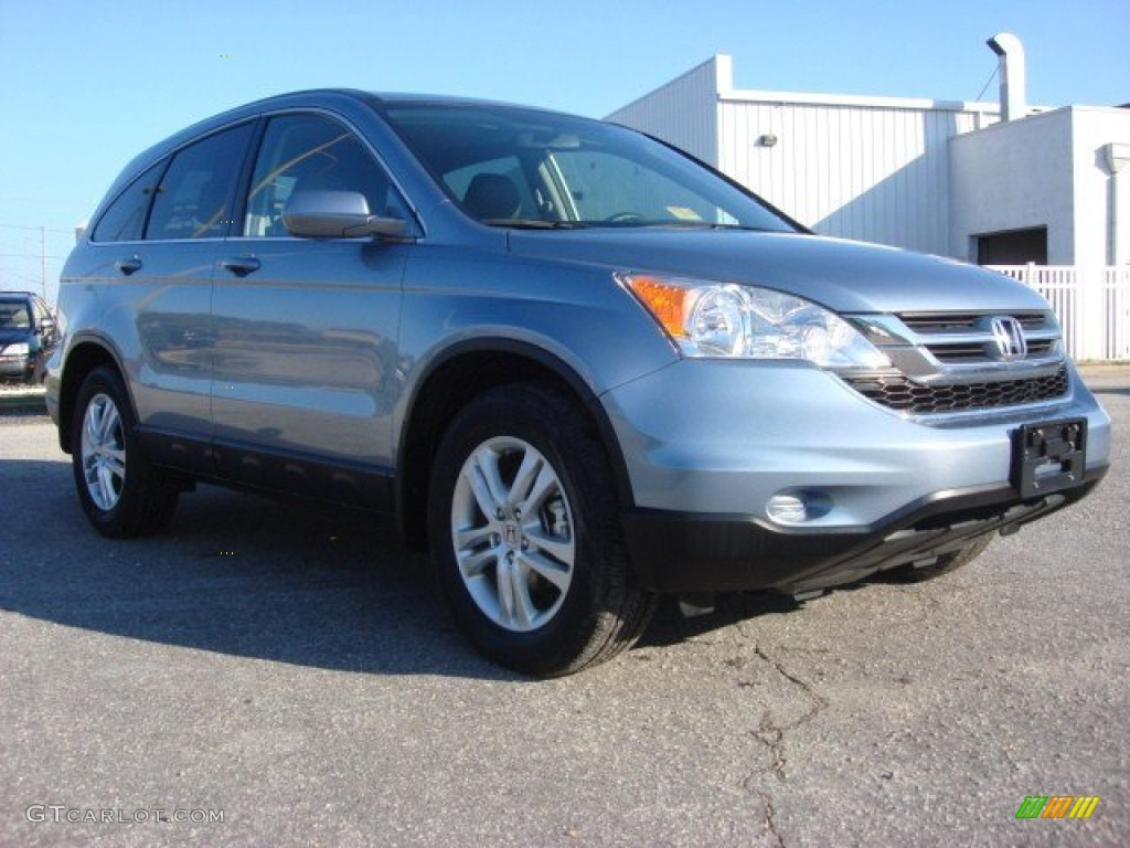 2011 CR-V EX-L - Glacier Blue Metallic / Ivory photo #1
