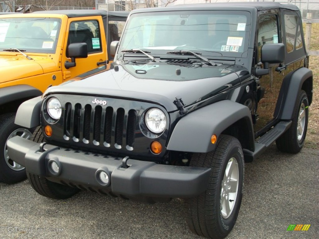 2012 Wrangler Sport S 4x4 - Black Forest Green Pearl / Black photo #1