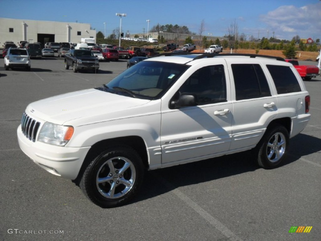 Stone White 2002 Jeep Grand Cherokee Limited Exterior
