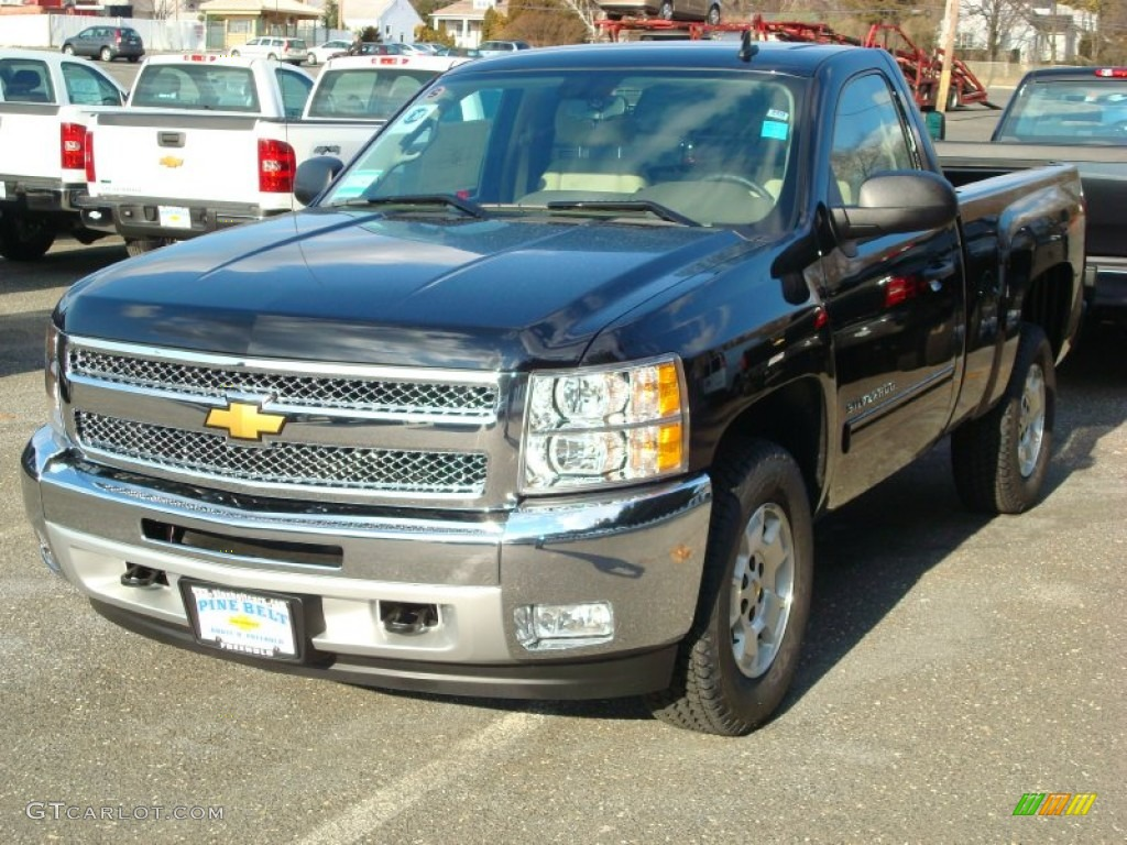2012 Silverado 1500 LT Regular Cab - Black / Light Cashmere/Dark Cashmere photo #1