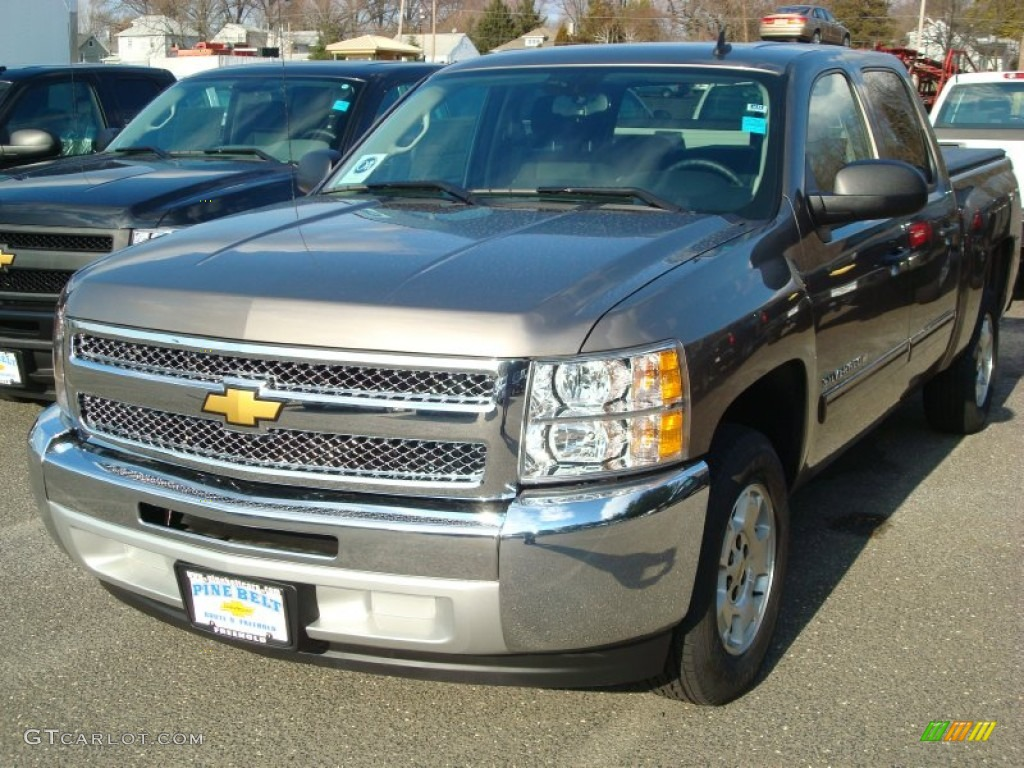 2012 Silverado 1500 LT Crew Cab - Mocha Steel Metallic / Ebony photo #1